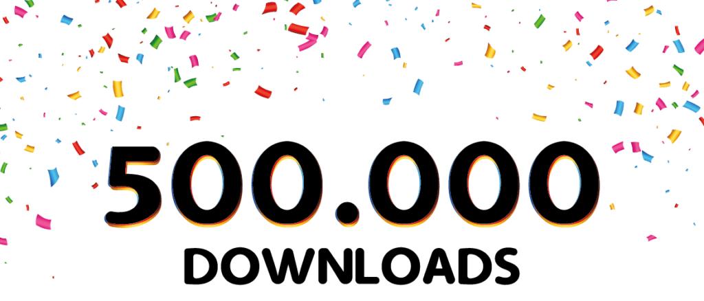 afromoji 500.000 downloads