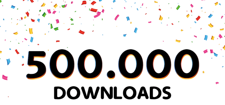 afromoji 500.000 downloads