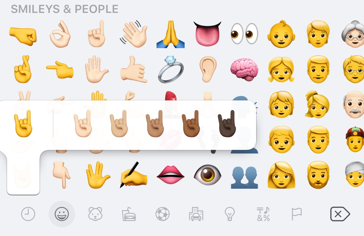 black emojis iphone